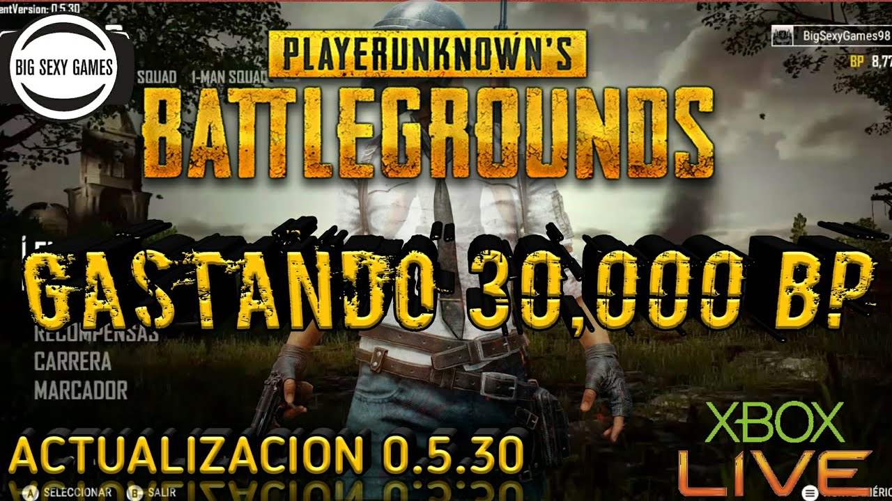 Pubg How To Earn More Battle Points Bp Every Game: PLAYER UNKNOWN'S BATLEGROUNDS (PUBG)-GASTANDO LOS 30,000