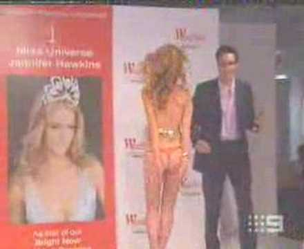 Jennifer Hawkins Miss Universe accident
