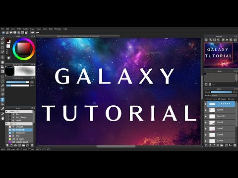 [MediBang] Galaxy Tutorial + Speedpaint