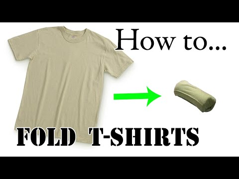 Army Packing Hack: How to Army Fold a T-Shirt, Basic Training Style - The Best Ranger Roll Tutorial