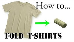 How to Fold T-Shirt for Vacation (Ranger Roll) - Efficient, Compact, Space-Saving Army Packing Hack