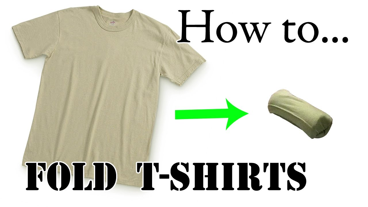 991990f5e3e8b Army Packing Hack: How to Pack a T-Shirt for Vacation - Ranger Roll, Basic  Training - YouTube