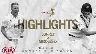 Moriarty Announces Himself On The County Stage | Surrey v Middlesex - Day Three