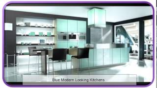 Blue Modern Looking Kitchens