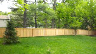 Cedar Framed Batten Board Privacy Fence 612-281-0558