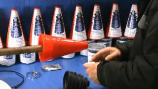 Universal stretch cv boot fitting Slide-a-Boot