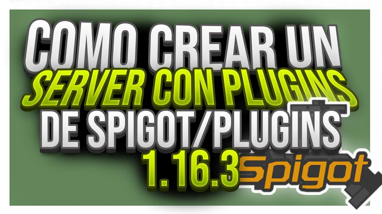 CREAR UN SERVIDOR DE MINECRAFT CON PLUGINS 1.16.3 💥ATERNOS ...