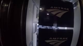 Roomettes sleeper car on Amtrak Empire Builder