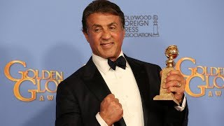Sylvester Stallone Speech At The Golden Globe Awards 2016. HDTV