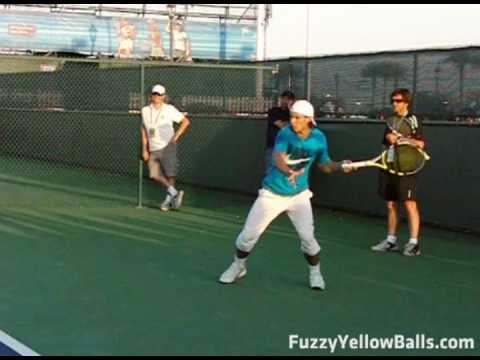 Rafael Nadal S Forehand From The Side In Slow Motion Youtube