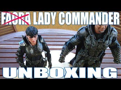 UNBOXING DE LADY COMMANDER, LA NO-HOT TOYS DE FAORA DE MAN OF STEEL