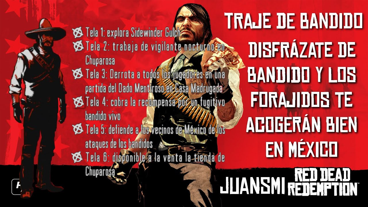 Red Dead Redemption | Atuendo de bandido | Bandito Outfit - YouTube