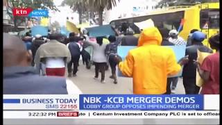 Lobby group hold demos in protests of ongoing NBK-KCB merger, says move bad for Kenyans