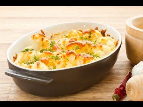 recette gratin de chou-fleur facile avec lardons béchamel - youtube