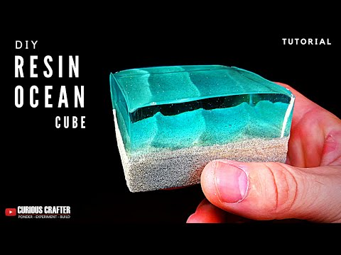 DIY Resin Ocean Cube Tutorial