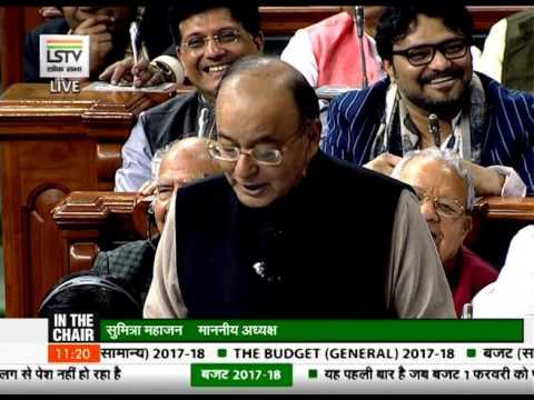 Arun Jaitley gave a poetic twist to Budget presentation
