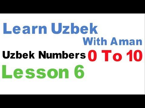 Learn Uzbek - Lesson 6 - Uzbek Numbers From 0 T0 10