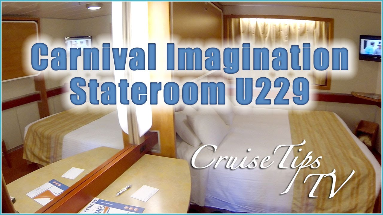 Carnival Imagination Stateroom U229 Cruise Tips Tv Youtube