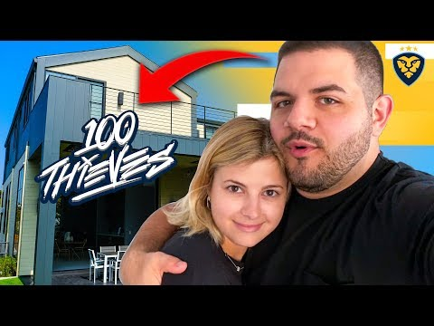 MY GIRLFRIEND REACTS TO THE $10,000,000 100 THIEVES HOUSE! (VLOG)