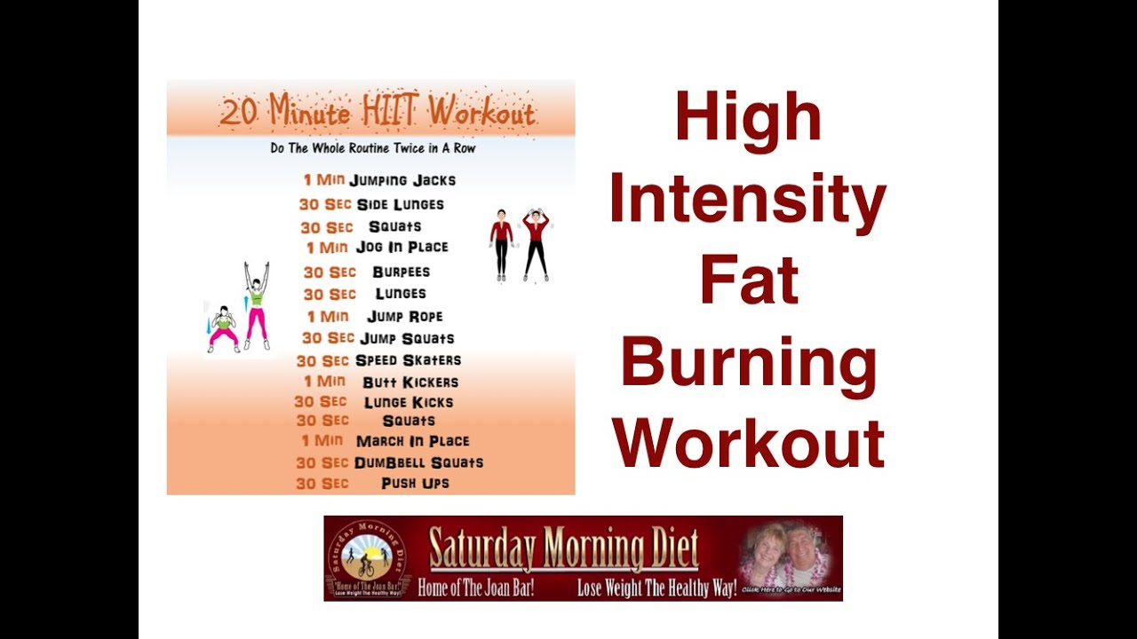 Burn Belly Fat With High Intensity 20 Minute Workout - YouTube