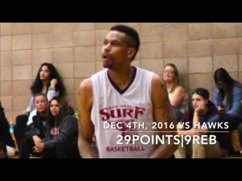 Jerry Dupree ABA Basketball Highlights: 29 points 9 Rebounds Dec4 2016