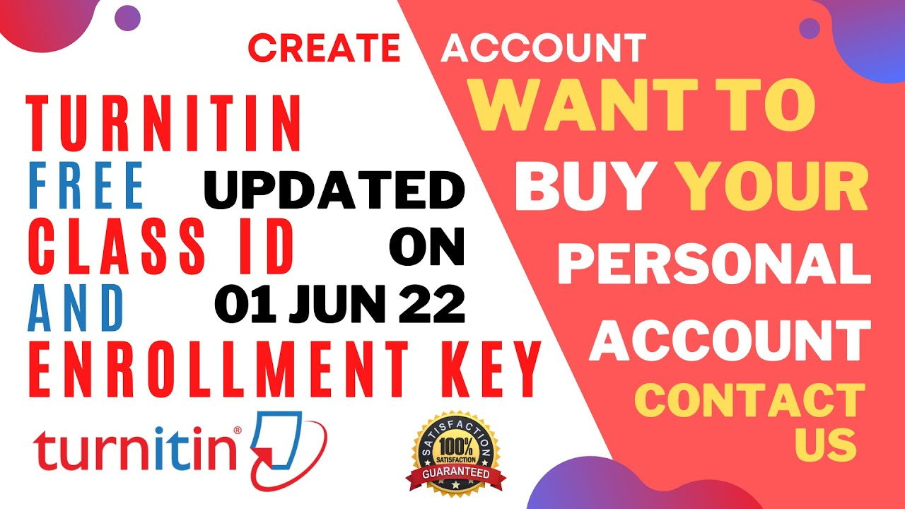 How To Create Free Turnitin Account And Check Plagiarism Clas Id Enrolment Key Youtube Can I My Paper For Before