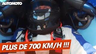 Une voiture chronométrée à plus de 700 km/h !
