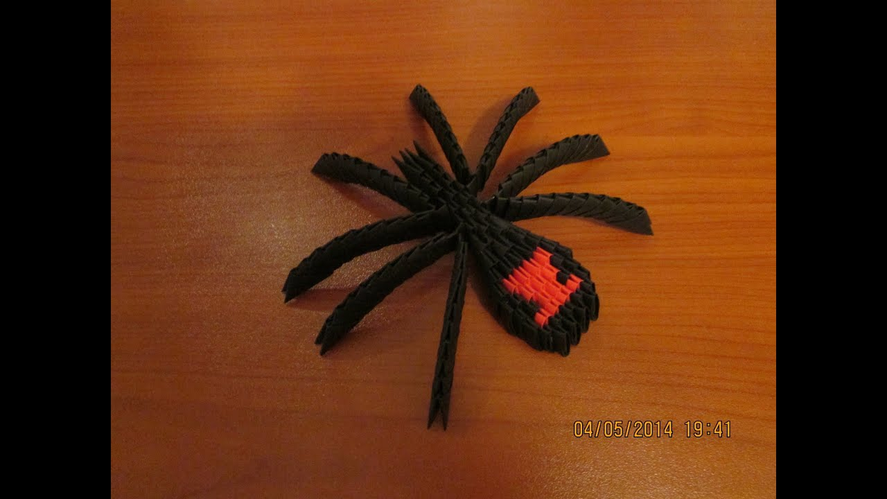 Papercraft 3D Origami Black Widow Tutorial