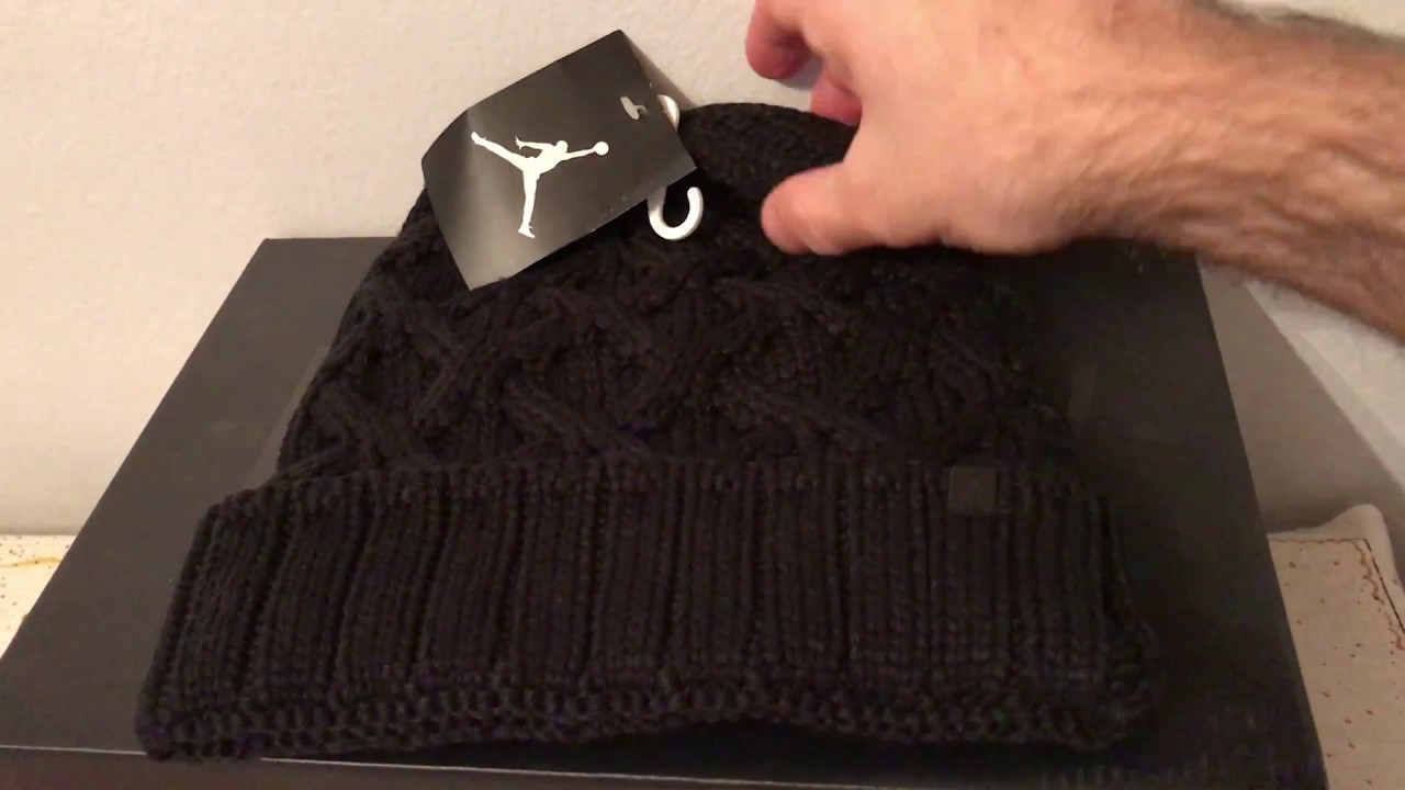 Nike Jordan Jumpman Cable Black Beanie hat 802027 010 - YouTube 65b83b52ee2