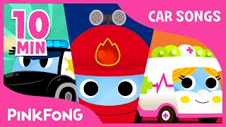 Police Car Song | Vehicle Songs | Car Songs | + Compilation | PINKFONG Songs for Children thumbnail