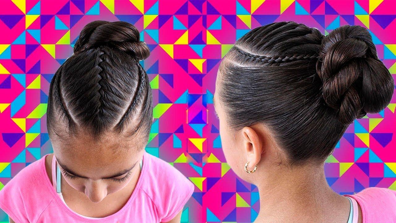 Сharming peinados de niña trenzas Imagen de tutoriales de color de pelo - Peinado con trenza elegante para niña con terminación en ...