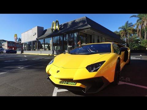 Taking A Lamborghini Aventador Supercar To McDonalds Drive Thru