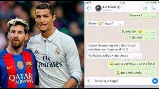 La divertida 'conversación' por WhatsApp entre Cristiano Ronaldo, Messi y Pique
