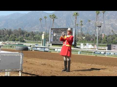 Horse Racing Horn - Bugle Call at Santa Anita Park ( October 2014 )