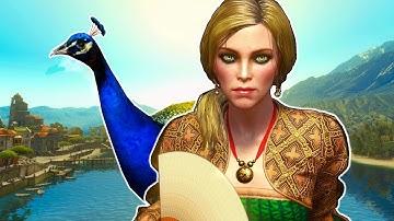 Witcher 3: Geralt Feeds the Duchess' Peacocks