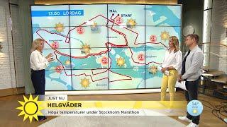 Värmebeskedet - så varmt blir det att springa Stockholm Marathon - Nyhetsmorgon (TV4)