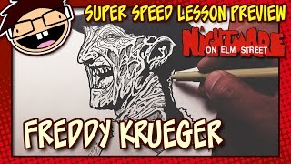 Lesson Preview: How to Draw FREDDY KRUEGER (A Nightmare on Elm Street)