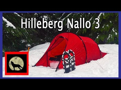 Setting up a Tent in the Snow feat. the Hilleberg Nallo 3