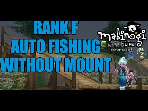 LV F Auto Fishing WITHOUT MOUNT!!! - Mabinogi : Fantasy Life