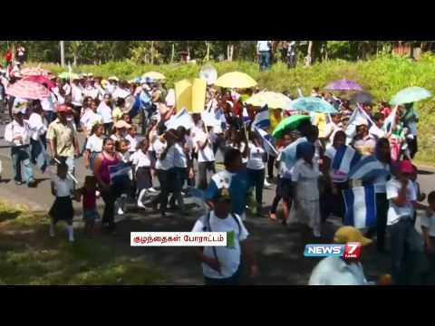 Protest against shipping canal in Nicaragua