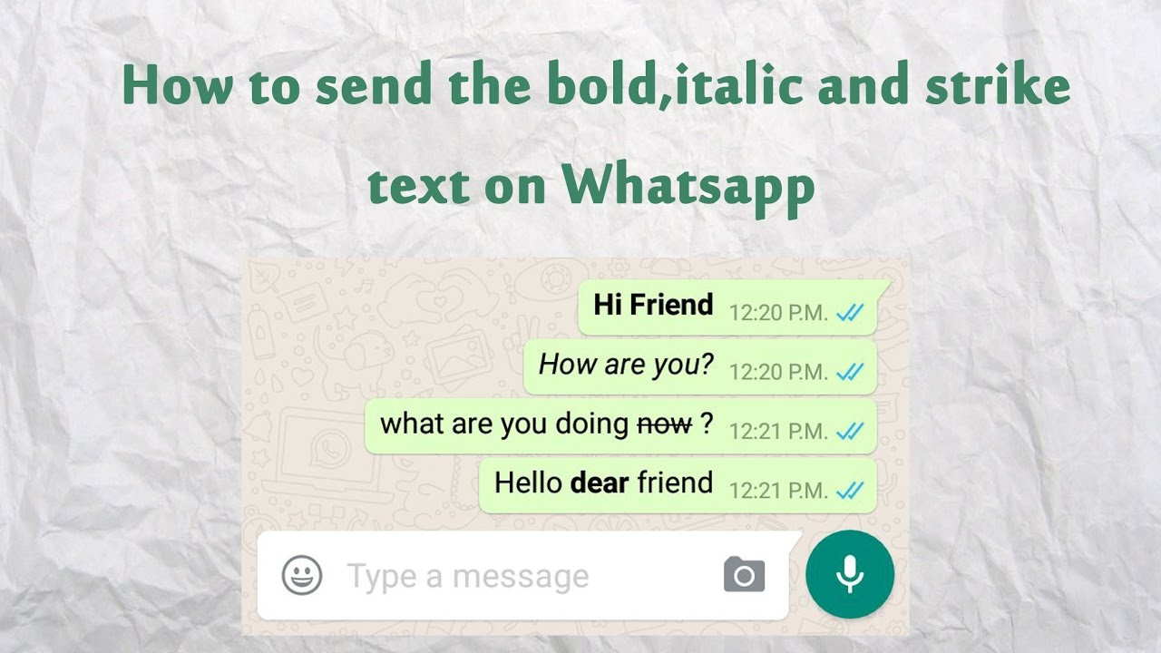 how to create bold text in whatsapp