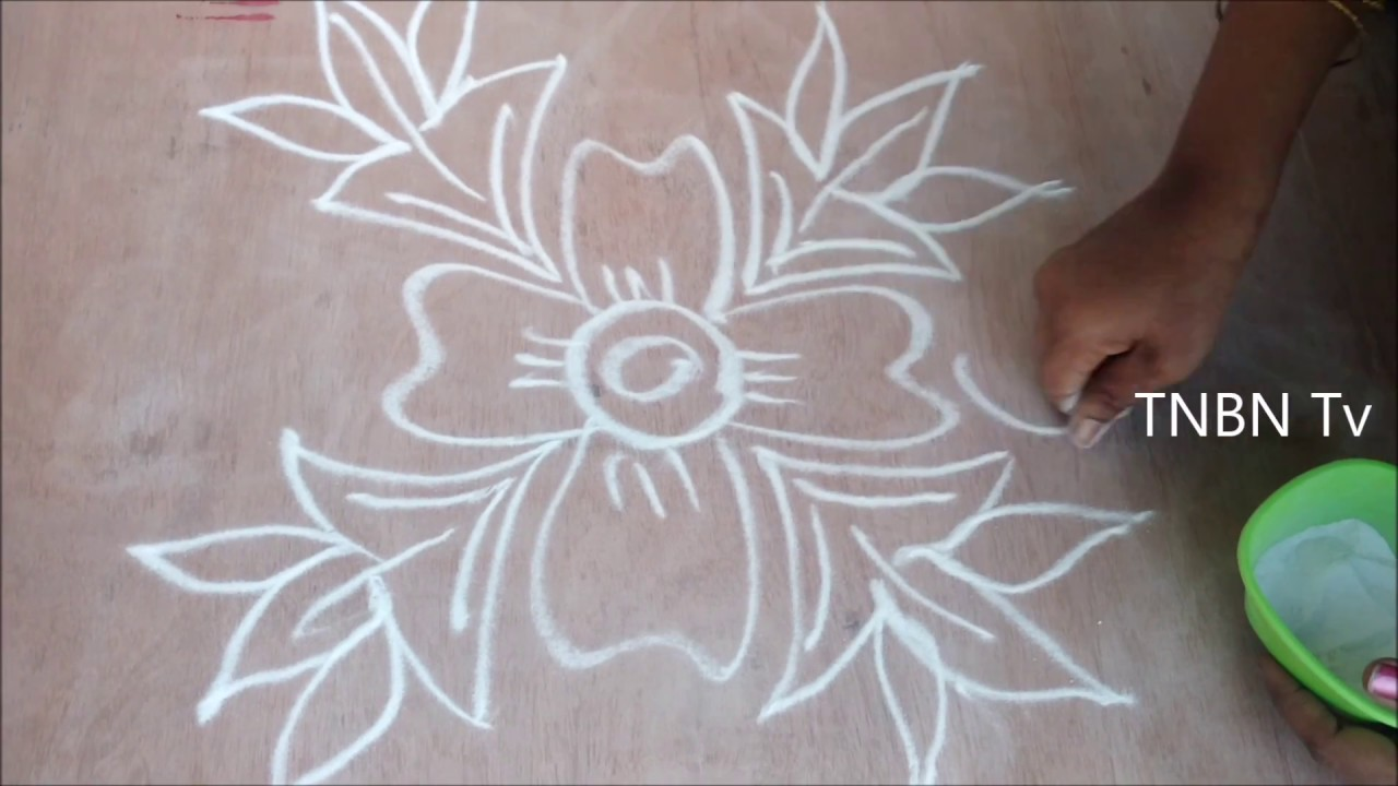 Simple rangoli designs for sankranthi with dots diy for Home made rangoli designs