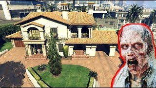 SAVING MY HOUSE FROM ZOMBIES!!! GTA V ZOMBIE INFECTION MOD