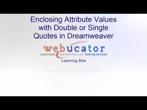 HTML Attribute Values And Quotes (and Dreamweaver)