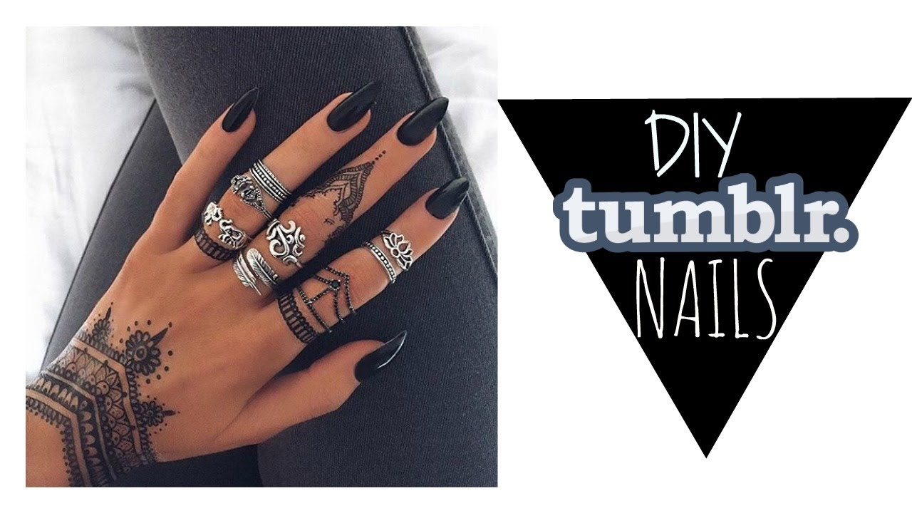 DIY|| EASY Fake Nails for UNDER $10 //TUMBLR INSPIRED - YouTube