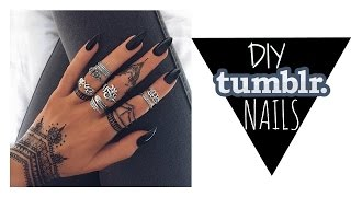 DIY|| EASY Fake Nails for UNDER $10 //TUMBLR INSPIRED