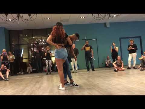 "Renna & Lau dancing Urban Kiz ""little"" Demo at Dutch Kizomba Festival 2018 (Tiel) thumbnail"