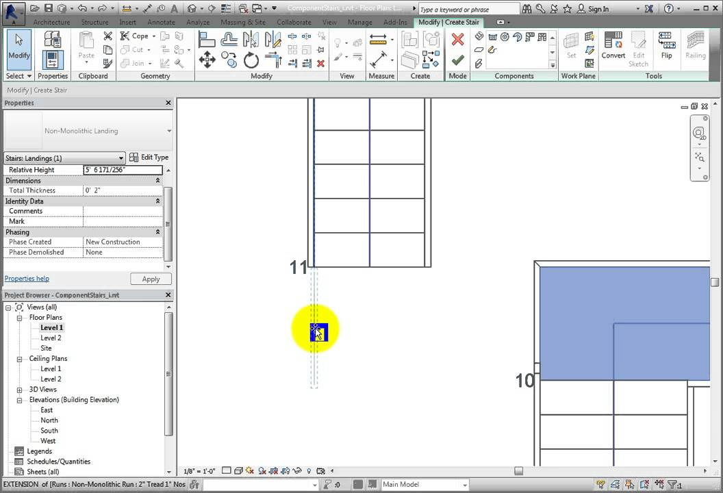 Modifying Stair Components In Revit