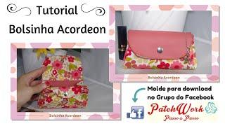 Bolsinha Acordeon – com molde em PDF