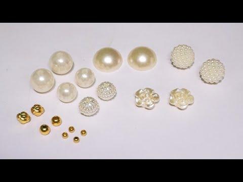 5 Beautiful Designer Pearl Earrings Making At Home | DIY | Hand Made Pearl Jewelry | uppunutihome